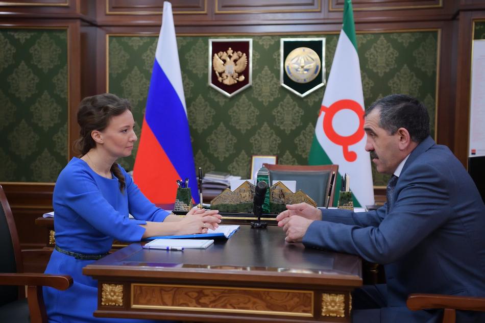 Состоялась рабочая встреча Уполномоченного по правам ребенка и Главы Республики Ингушетия