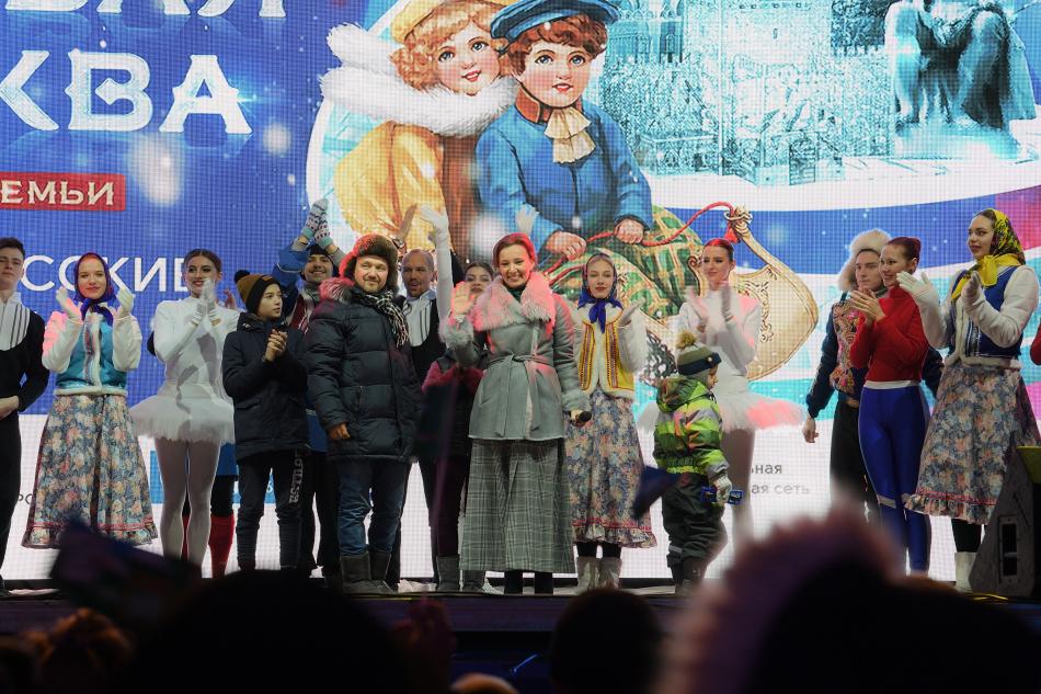 Анна Кузнецова приняла участие в открытии фестиваля «Ледовая Москва. В кругу семьи»