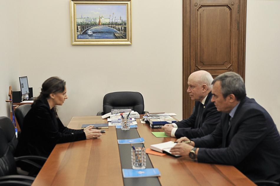 Анна Кузнецова обсудила с Председателем Исполнительного комитета СНГ вопросы защиты прав детей