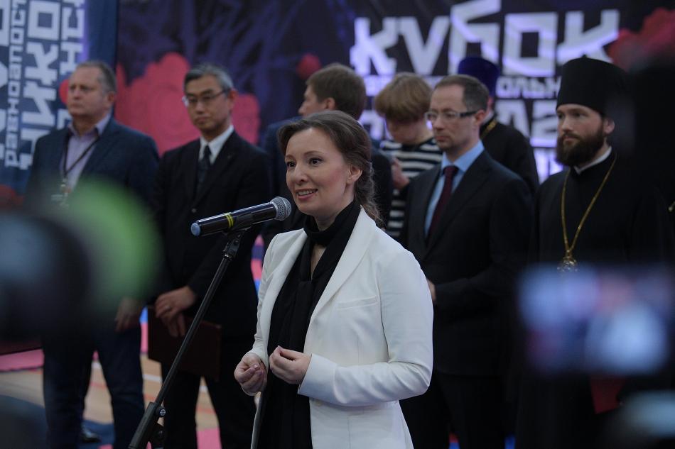 Анна Кузнецова поприветствовала участников фестиваля единоборств «Кубок равноапостольного Николая Японского»