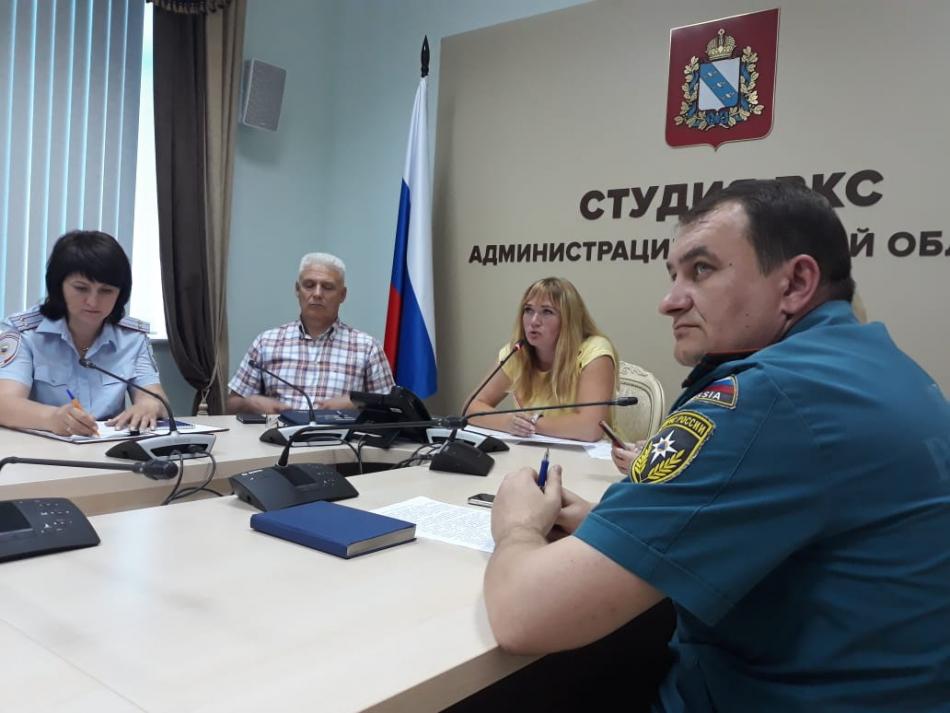 Совещание Уполномоченного по правам ребенка в Курской области в рамках проведения акции «Безопасность детства» в режиме ВКС