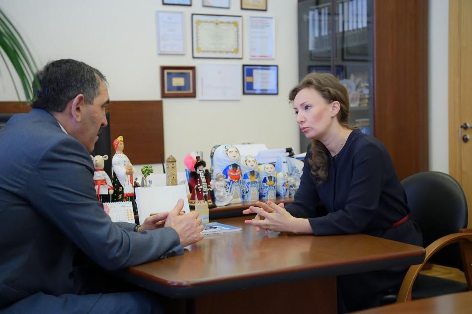 Анна Кузнецова обсудила с Главой Ингушетии вопросы помощи детям-сиротам